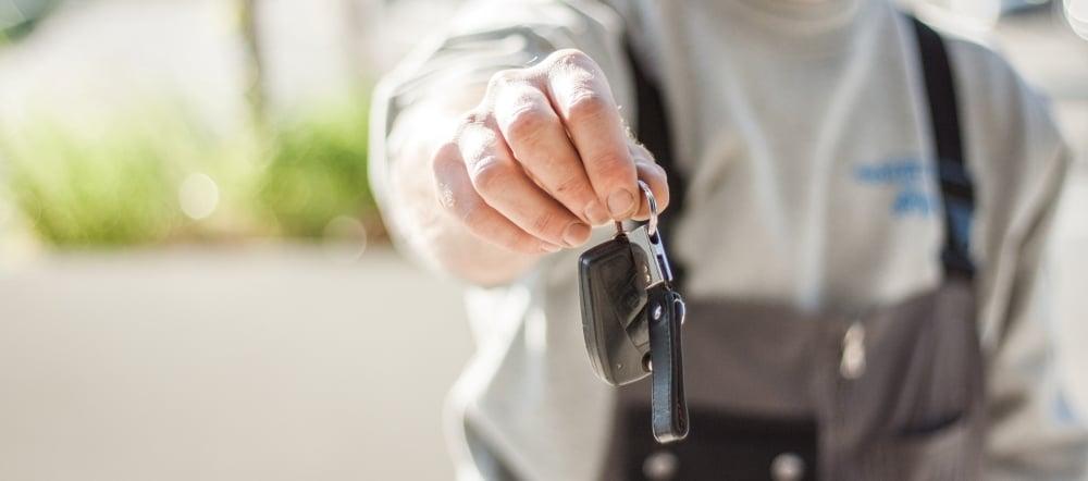 Handover keys motorhome rental