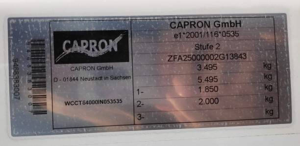 Chassis rating sticker weights Carado 800px (2)