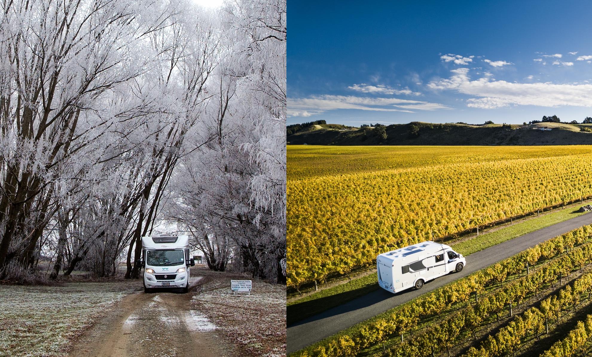 motorhoming in versus high season
